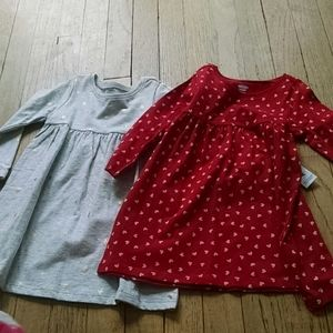 18-24 month dresses bnwt heart star